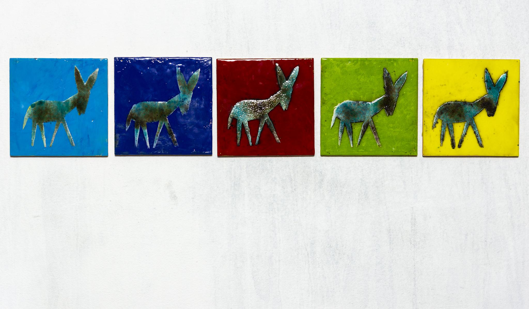 Donkey Ceramic Panel